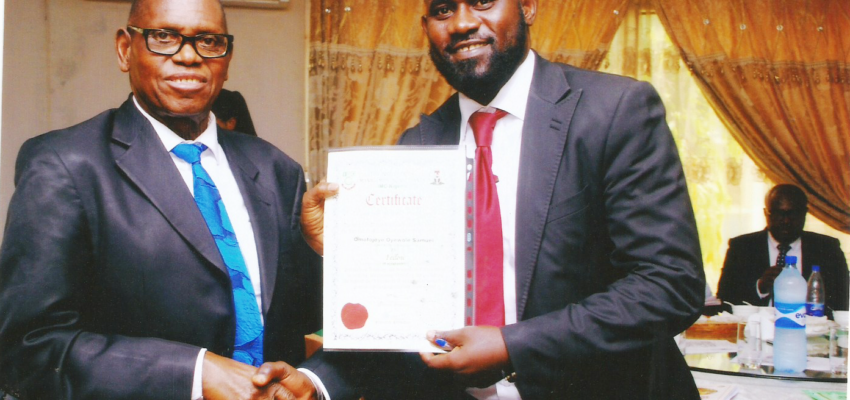 Wole Omofojoye Gets Investiture As Fellow Of The Institute Of Management Consultants.
